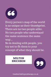 Every person's map of the world is as unique as their thumbprint - Milton Erickson Quote