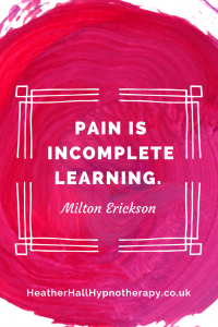 Pain in incomplete learning